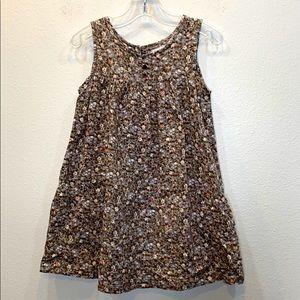PERIMITZ Earth Tone Floral Dress 2T